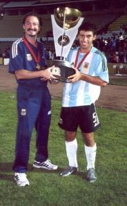 Marcelo Roffé con la selección Argentina