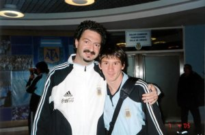 Marcelo Roffé y Lionel Messi